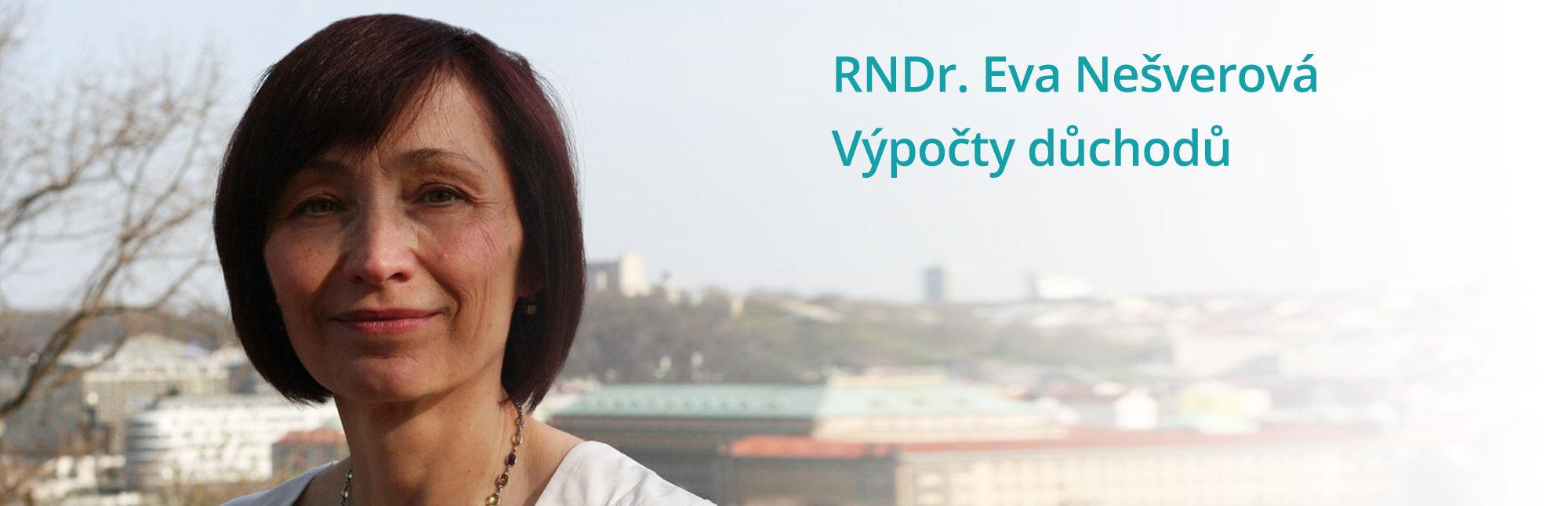 RNDr. Eva Nešverová – Výpočty důchodů